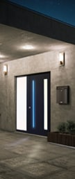 Porte d'entrée lumineuse